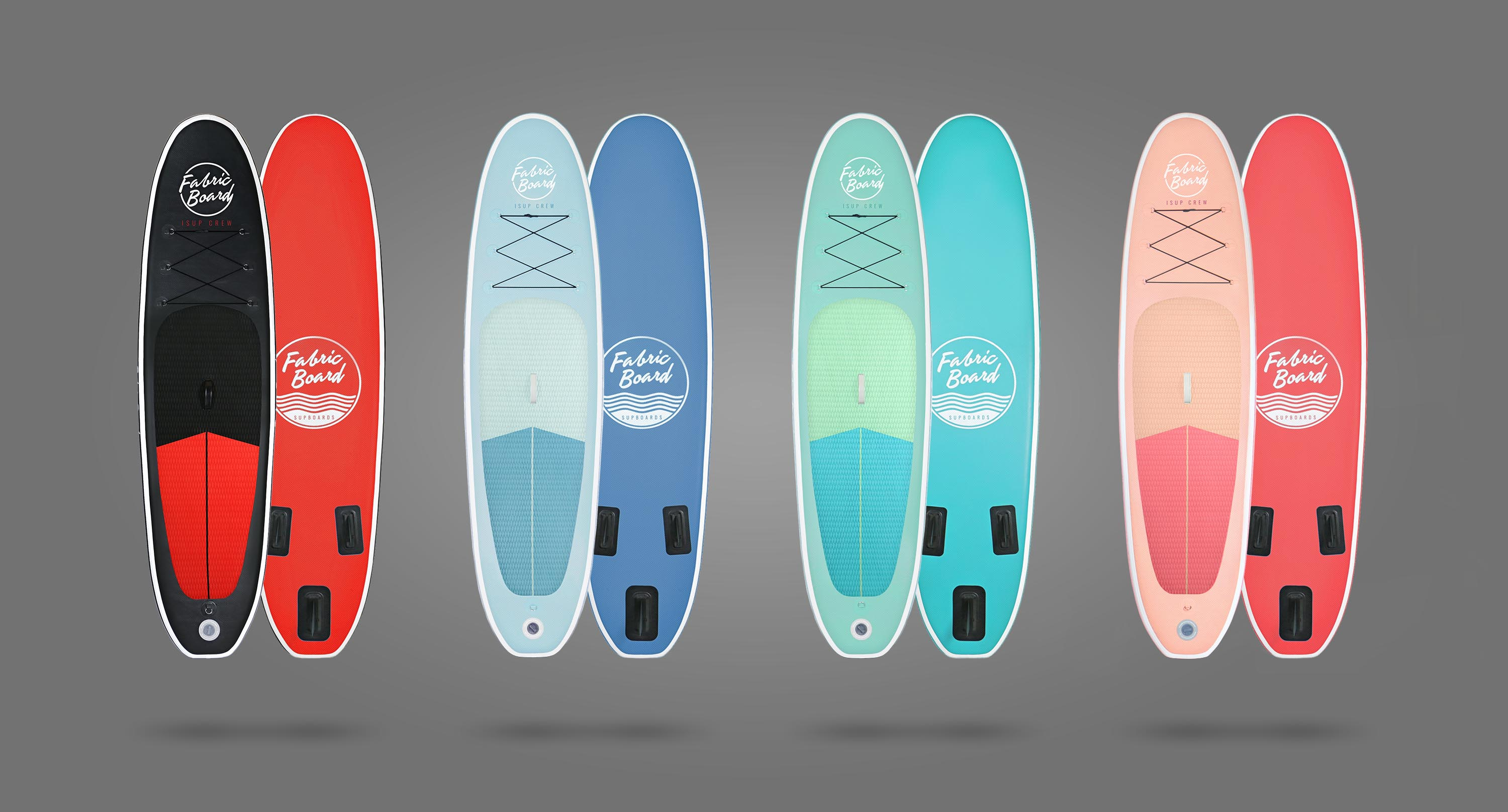 Paddle Surf Hinchable FABRICBOARD Color Azul Negra Roja Azul Verde Coral