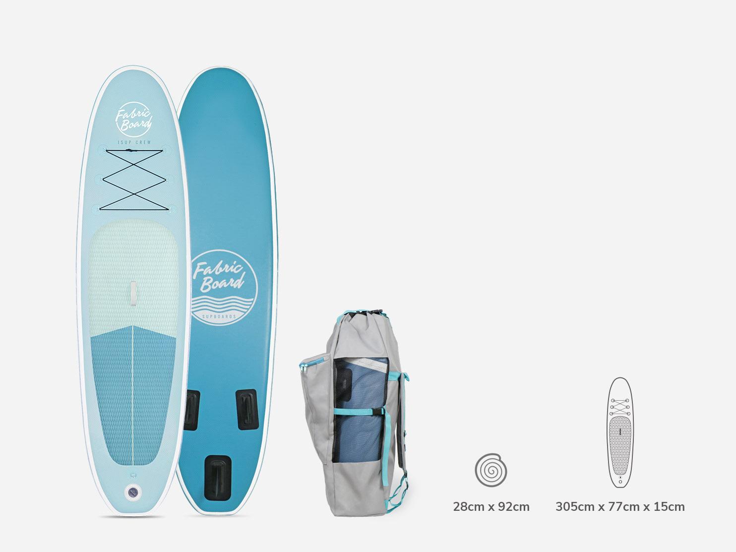 Paddle Surf Hinchable 10 FabricBoard Azul con mochila y medidas